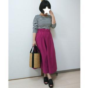 キレイなピンク色に一目惚れ♡earthのセールで購入したスカーチョのコーデ