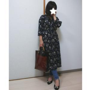 《GU》小花柄ワンピ×週3で穿いちゃうほどお気に入りのデニムのコーデ