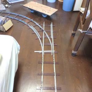 ミニ鉄道(110) ポイントの製作35