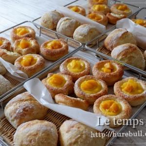 生徒さま作:カワイイ&美味しい『マンゴークリームパン』をご覧ください♪