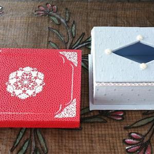 生徒さんの作品紹介☆『仕切りのある箱』と『ポケットティッシュ入れBOX』