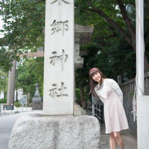東郷神社のカクカクした狛犬