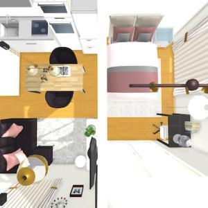 家具の配置発表!1LDKマンションのコーディネート事例製作3