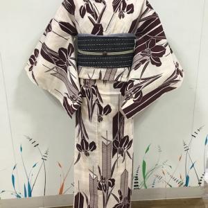 《アクア店》綿麻浴衣コーディネート