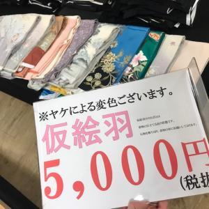《アクア店》ヤケあり5,000円仮絵羽入荷