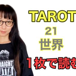 タロット21世界。1枚でどう読みますか?
