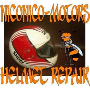 SHOEI RF VORGUE ヴォーグ Helmet Repair ヘルメットリペア ヘルメット修理店 ニコニコモータース