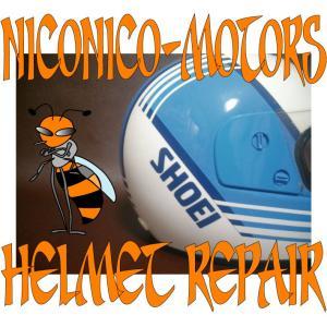 SHOEI RF VORGUE ヴォーグ ヘルメットリペア Helmet Repair ヘルメット修理店 ニコニコモータース