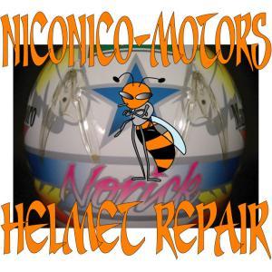 SHOEI X-8V NORICK 阿部典史 Helmet Repair ヘルメットリペア 廃盤 内装 交換 修理 ヘルメット修理店 ニコニコモータ