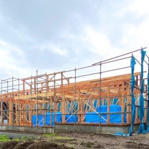 平屋の新築建売住宅の上棟!  建売住宅の底上げの一つの成果