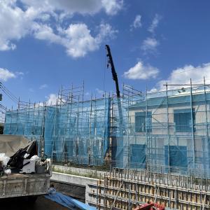 一戸建て建売住宅 東村山市秋津町4丁目15棟現場は上棟工事中です。
