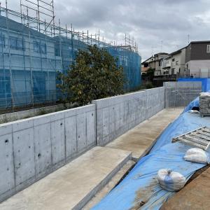 東村山市秋津町4丁目9棟現場の擁壁を撮ってきました。【一戸建て建売住宅】