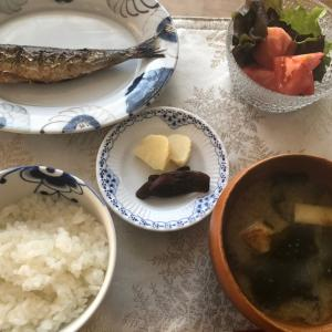 明太イワシの朝食
