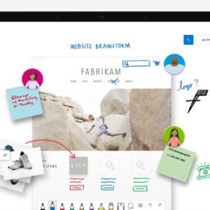 スマホがリアルタイムでホワイトボードに「Microsoft Whiteboard」