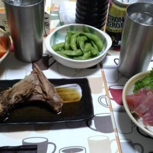 半額で購入したお刺身で作った海鮮丼~!