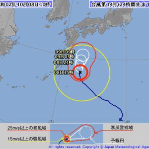 台風第14号