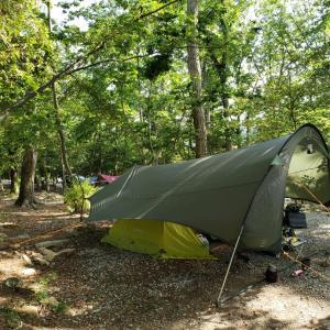二日酔いでキャンプ
