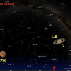 昨晩の木星・土星・火星