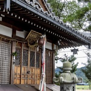 静かな神社から(北陸本線)