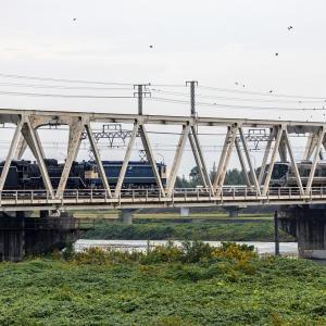 D51とトラス橋(東海道本線)