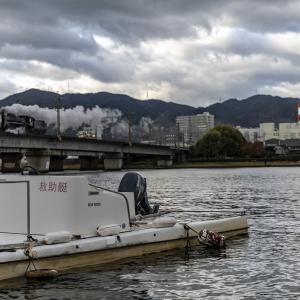 朝の瀬田川橋梁(東海道本線)その2