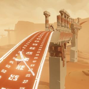 Steamで「風ノ旅ビト」が配信中!砂漠の先の謎を解き明かせ。