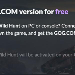 【GOG 無料】Xbox One版ウィッチャー3所有者にPC版が無料オファー。ゲームパスも対象。【6月23日まで】