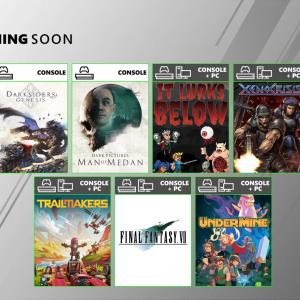 Xbox Game Pass8月の追加タイトル「ファイナルファンタジー7」「TRAILMAKER」など。
