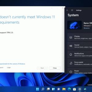 Windows 11、仮想マシンでの利用要件を引き上げ、古いPCはサポートされないようです。