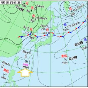 石垣島の近くには台風がいたさぁ!