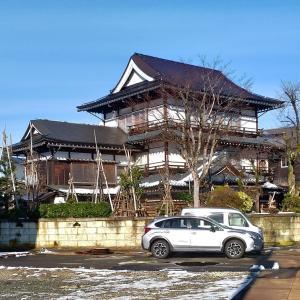 12月29日新潟三国街道塩沢宿牧之通りとカニ食べ放題