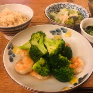 ブロッコリーと夕食