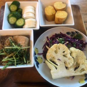 野菜ばかりの夕食