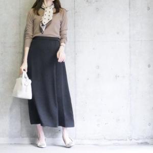 【GU】上品さに惚れたスカート/3色揃えたお気に入りニット