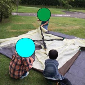 雨の子連れキャンプ‼︎