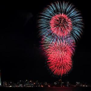 関門海峡花火を見ました♪