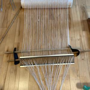 手織り椅子マットの千巻