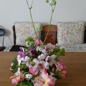 お花を飾って