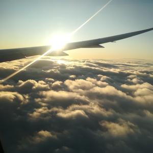 機内から、こんにちは