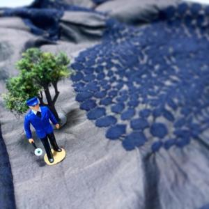 この木なんの木スカート縫ってみる。