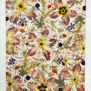 押し花作品 「花びらコラージュ1」