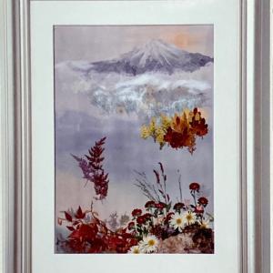 押し花作品 「美しい日本の風景」