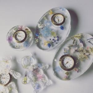 簡単かわいい レジンで作るお花の時計作り方!!