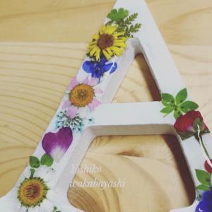 【動画レッスン】YOU TUBEより お花のアルファベットご制作くださいました