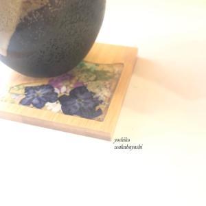 お花の茶托 ちょっと和風に フラワーレジンクチュール新教材考案中!