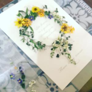 レカンフラワーレッスン お庭に咲いたお花で彩るリース