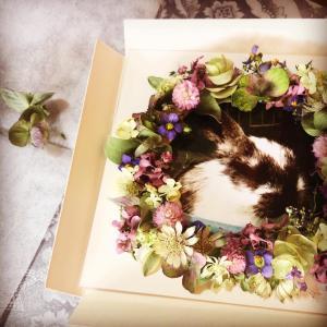 レカンフラワーレッスン ペットと飾るお花のリース