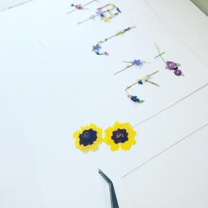 押し花でつくる花文字