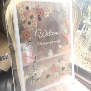 ブライダルレッスン 美しすぎる!バラのウェルカムボード