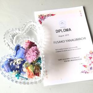 お花と香りを楽しむ芳香剤のディプロマレッスン